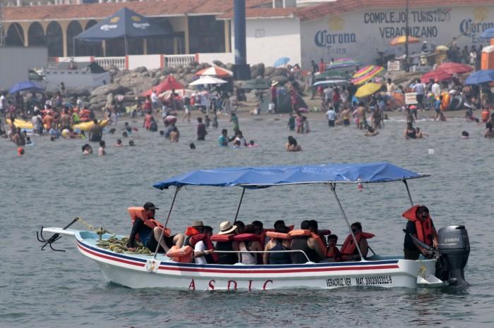 Reportan lleno total para Veracruz en días santos