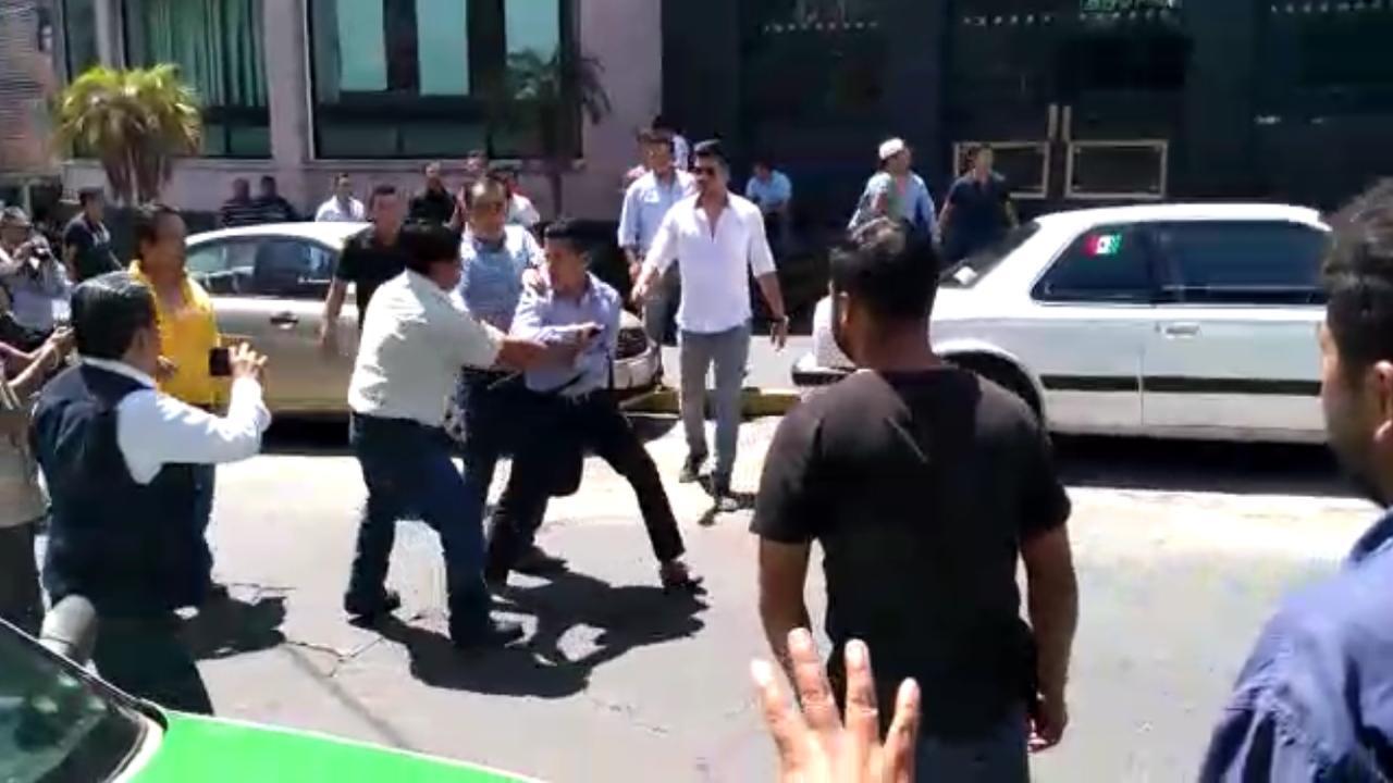 VIDEO | Militantes del PAN se agarraron a golpes, en Xalapa