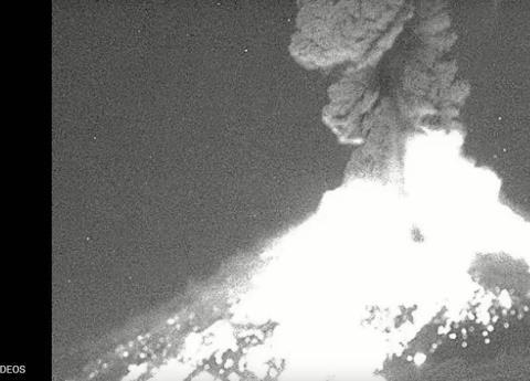 Erupción del Popocatépetl alcanza 4 kilómetros de altura