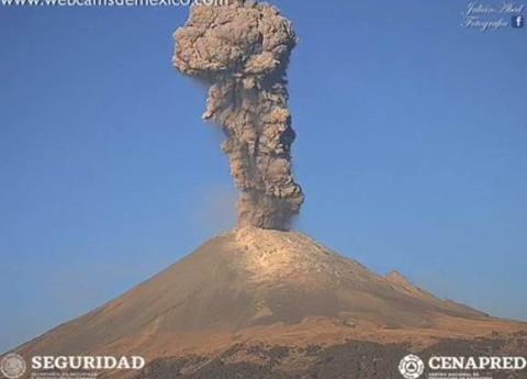 Alerta volcánica por actividad de Popocatépetl suba a Amarillo fase 3