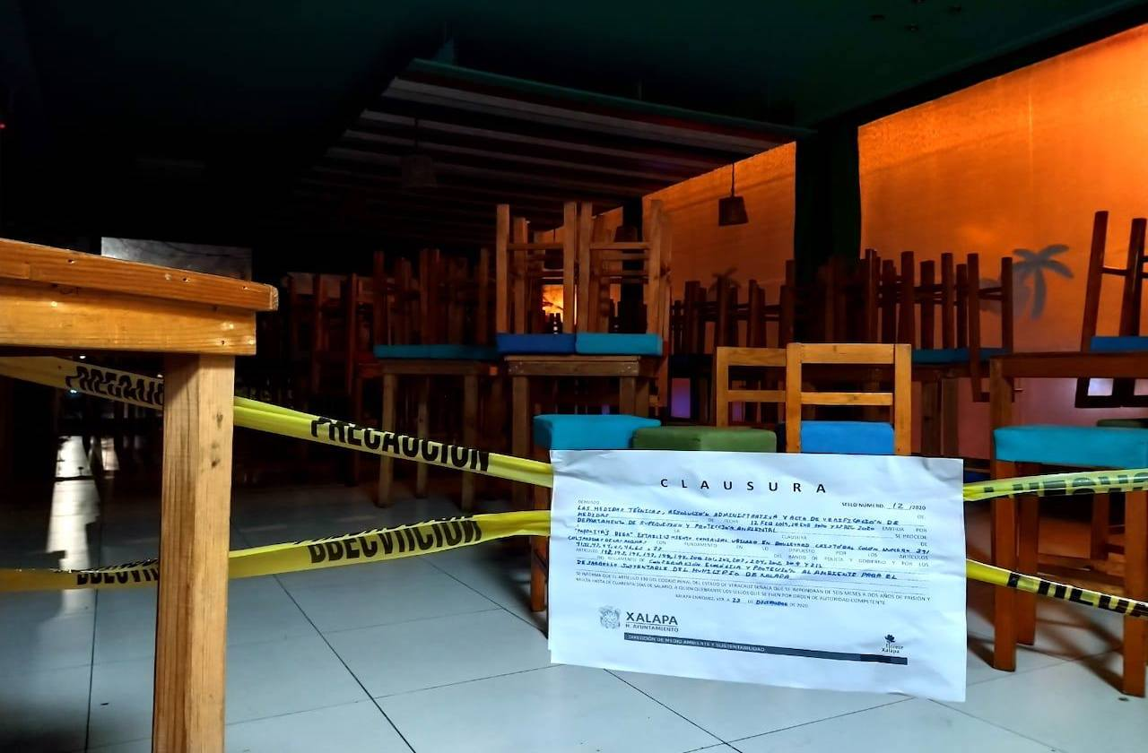 Por contaminación acústica, este negocio fue clausurado en Xalapa