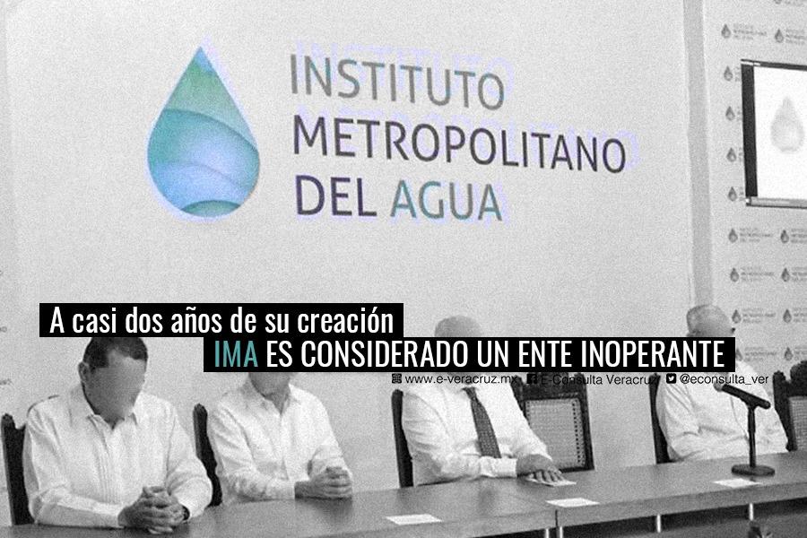 Instituto Metropolitano del Agua, inoperante y con subejercicio