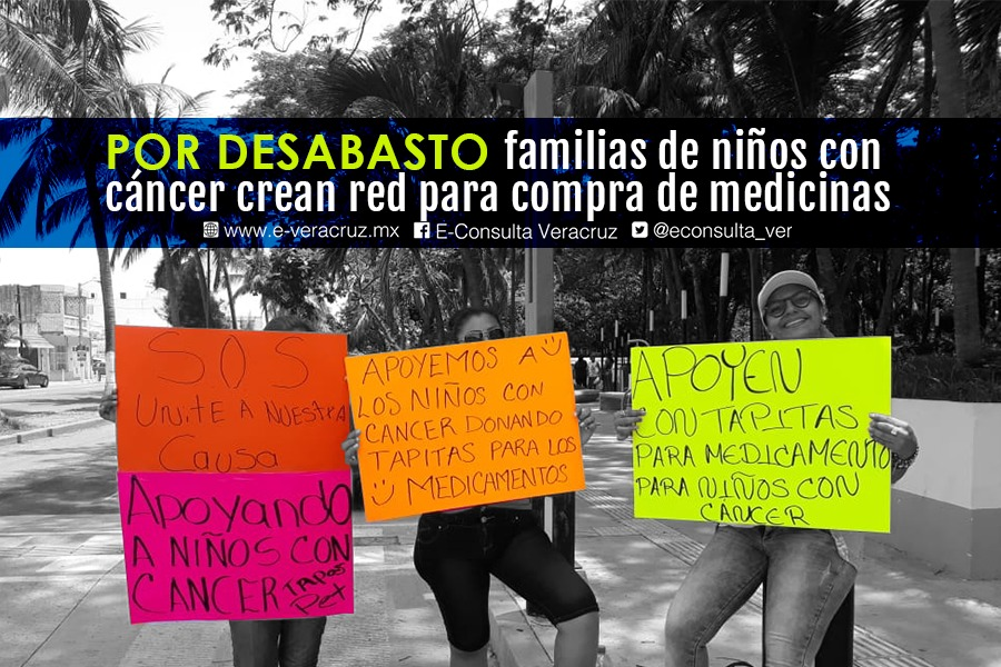 Familiares de niños con cáncer crean red para adquirir medicamentos