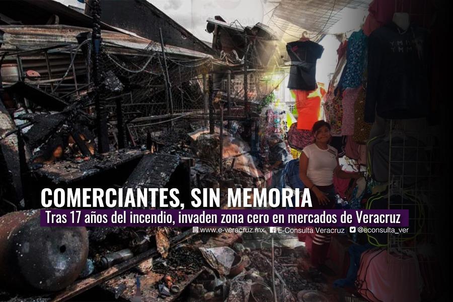 Comerciantes sin memoria; a 17 años de la tragedia en el Mercado Hidalgo
