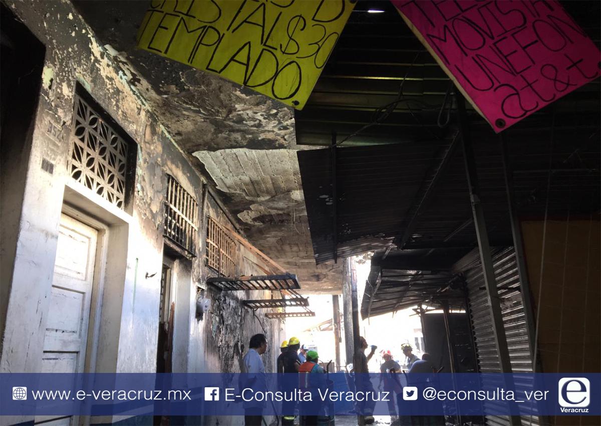 Incendio en el callejón Reforma de Veracruz