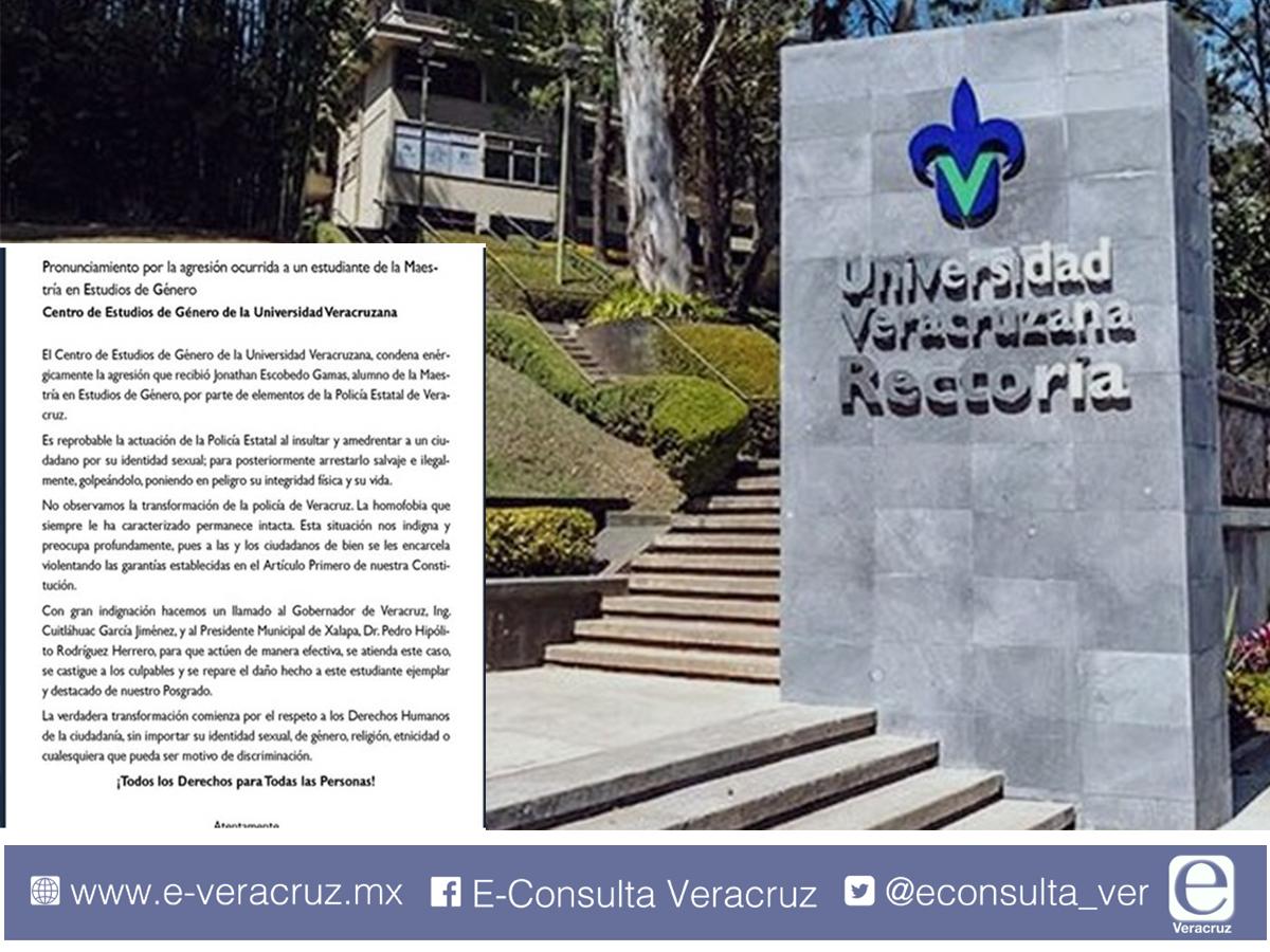 UV condena agresión de elementos de SSP contra estudiante