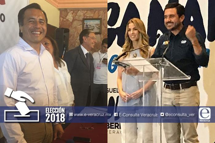 Cuitláhuac y Yunes Márquez se pronuncian ganadores de elección en Veracruz