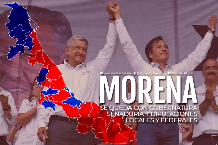 El tsunami Morena se afianza como primera fuerza en Veracruz