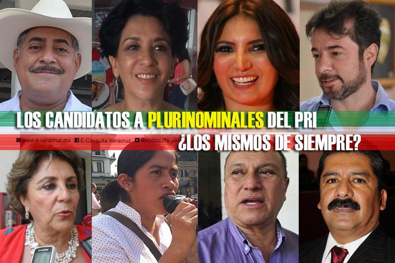 Los 10 candidatos a diputados locales del PRI por la vía plurinominal