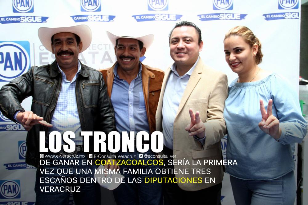 Familia Tronco, a la disputa del bastión de Morena al sur de Veracruz