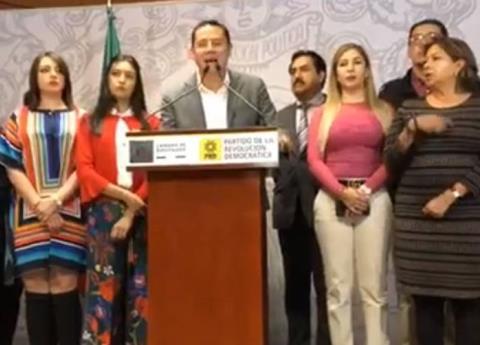 """Por """"manchar al partido"""" ordenan sanción a legisladores desertores del PRD"""