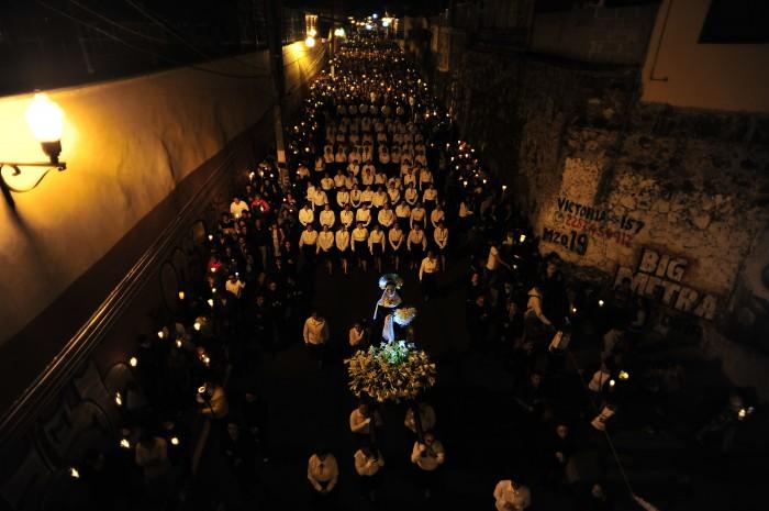 En imágenes: así se vivió la Procesión del Silencio en Xalapa