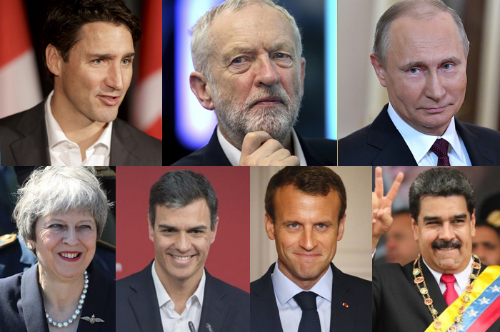 Putin, Maduro, Corbyn y Trudeau se suman a felicitaciones para AMLO