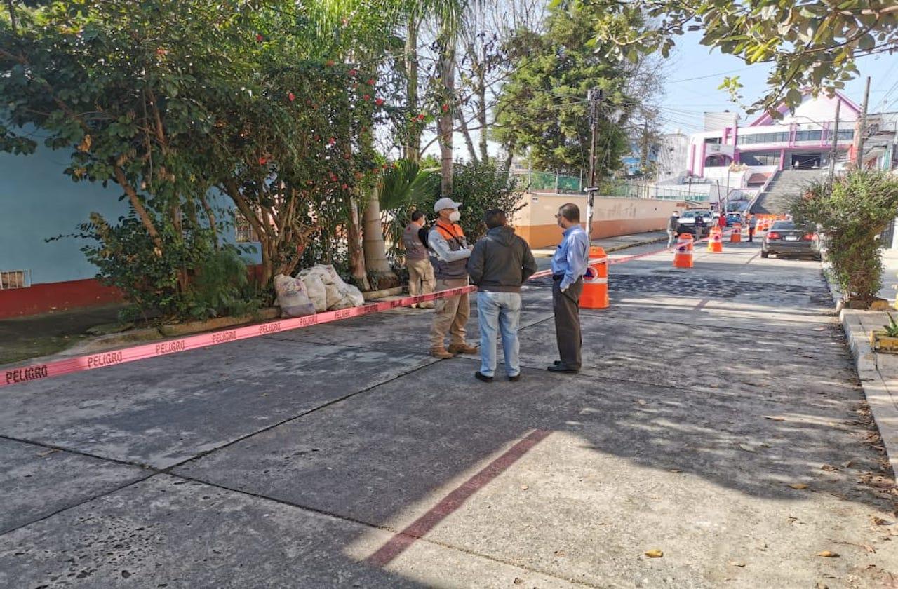 Protección Civil evita aglomeraciones en Basílica de Xalapa