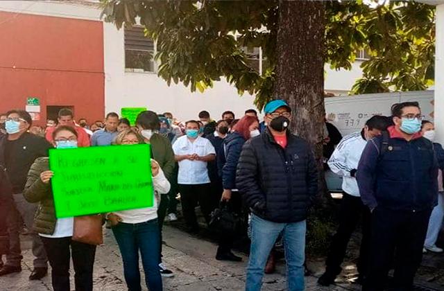 Nueva protesta en Jurisdicción Sanitaria 7 de Orizaba