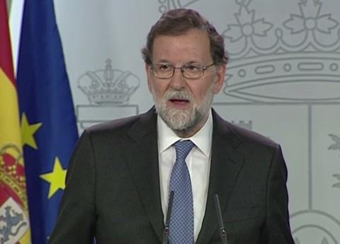 España destituye a Carles Puigdemont y al Parlamento