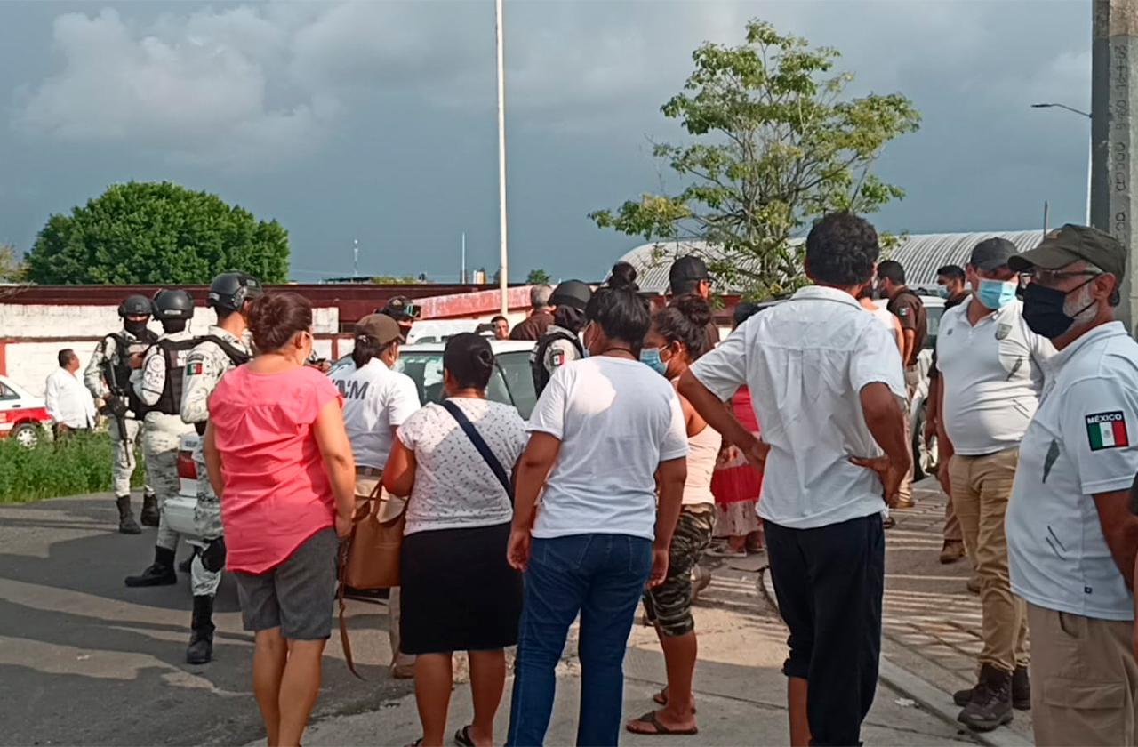 Realizan redada en Las Choapas, detienen a haitianos en refugio