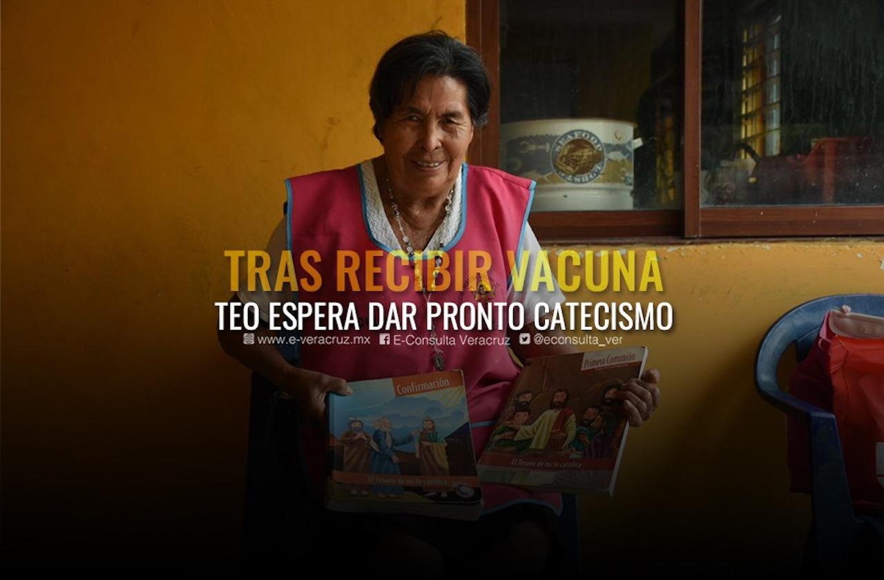 Recién vacunada, Teo espera volver a dar catecismo en El Palmar