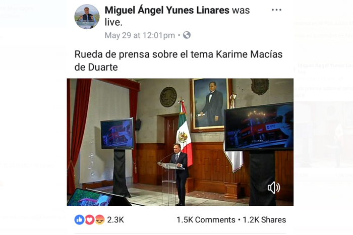 Yunes se gasta más de 10 mdp en publicidad de Facebook