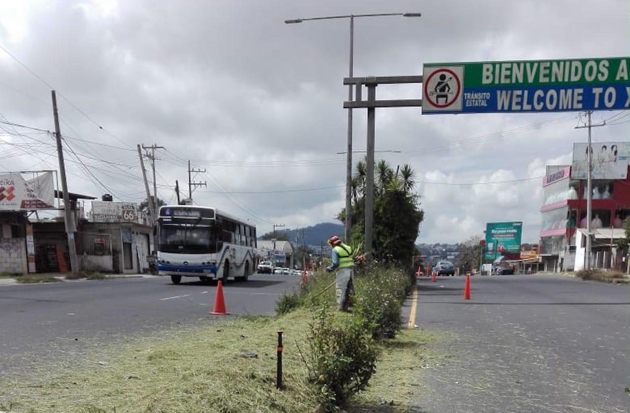 Refuerzan mantenimiento a áreas verdes de Xalapa