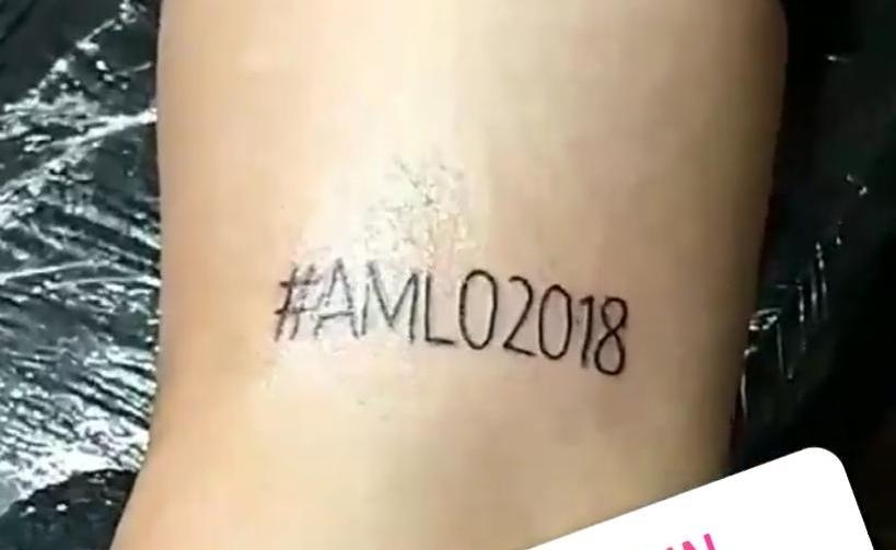 Increíble pero cierto: en Minatitlán, joven se tatúa #AMLO2018