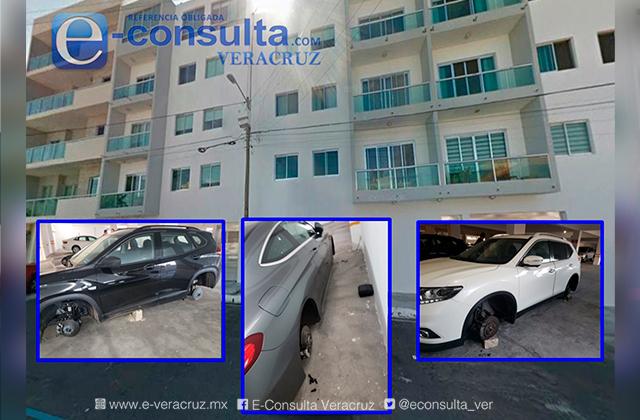 Desvalijan autos en lujoso edificio de Boca del Río