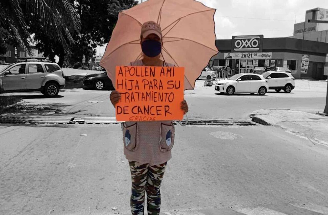 Rosa Aurora botea para que su hija sobreviva al cáncer