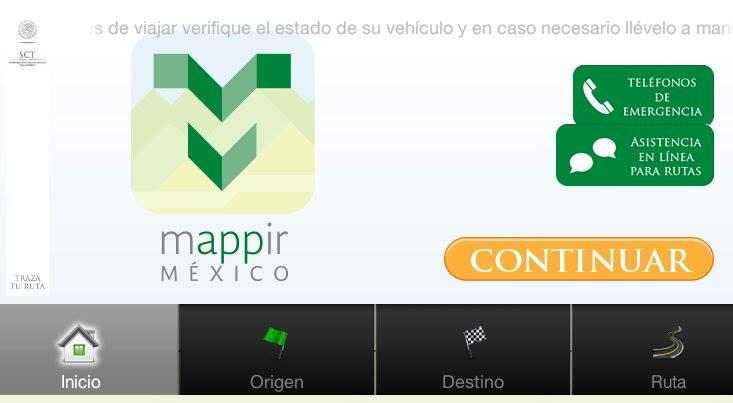 Recomienda SCT la app Traza tu ruta, para planear viajes al interior del país