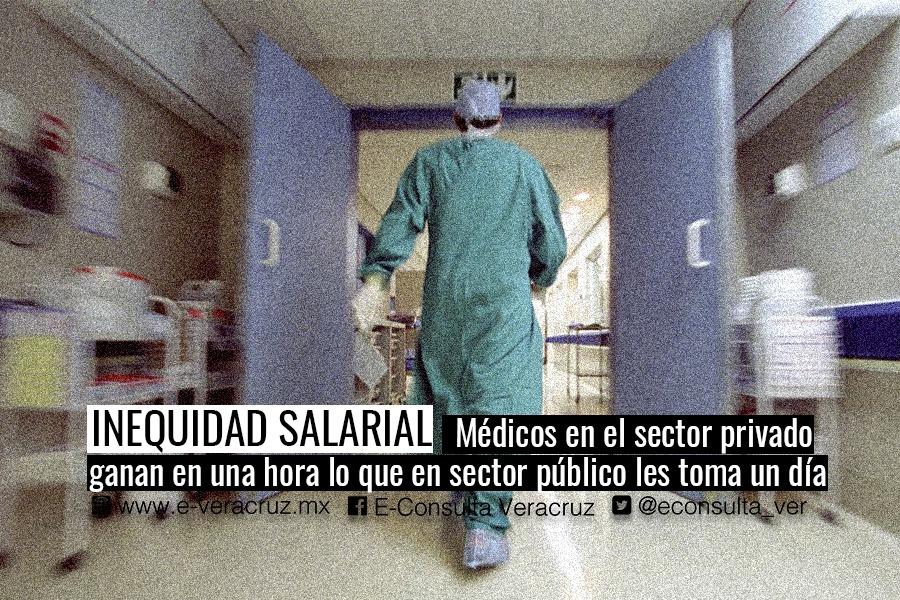 Ante inequidad de salarios, médicos veracruzanos mudan al sector privado