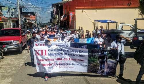 Arranca la caravana de madres de migrantes centroamericanos desaparecidos