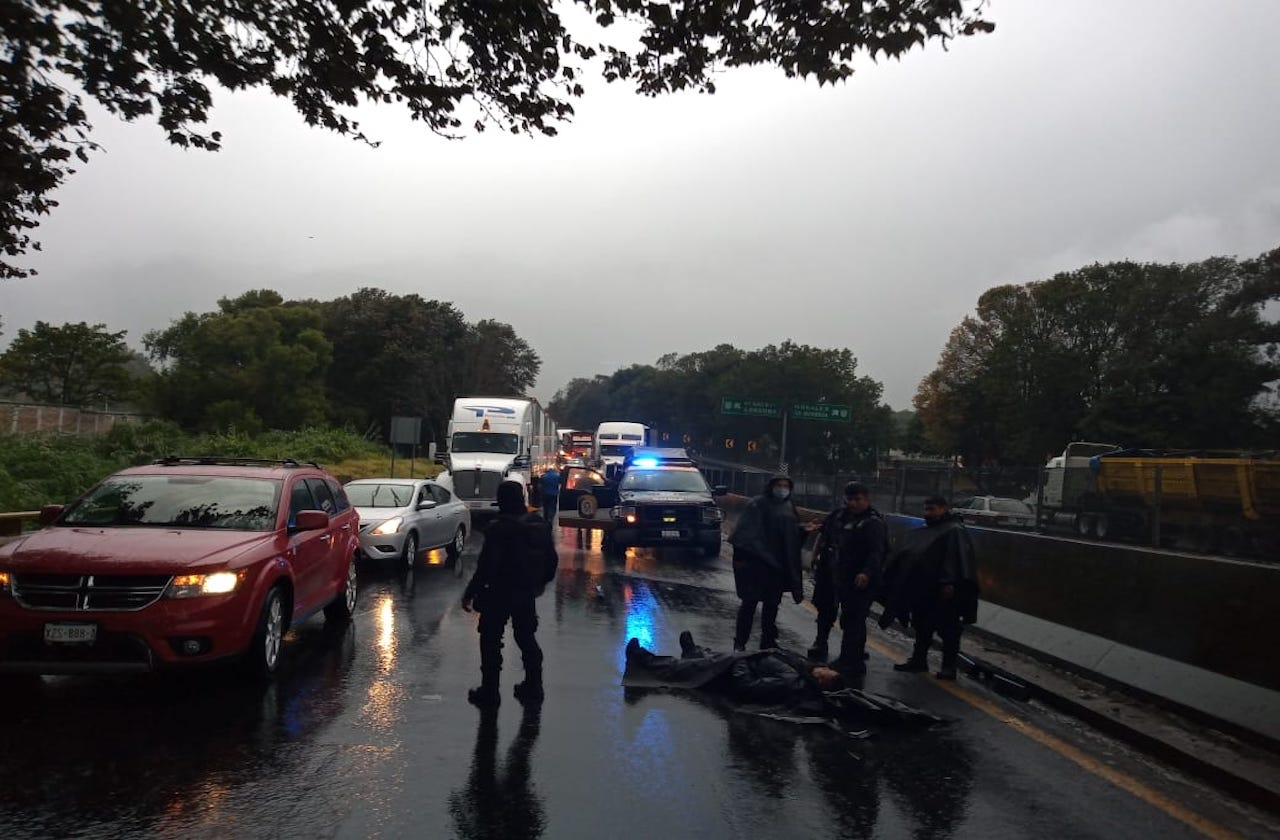 Se accidenta elemento del IPAX en autopista Córdoba-Puebla