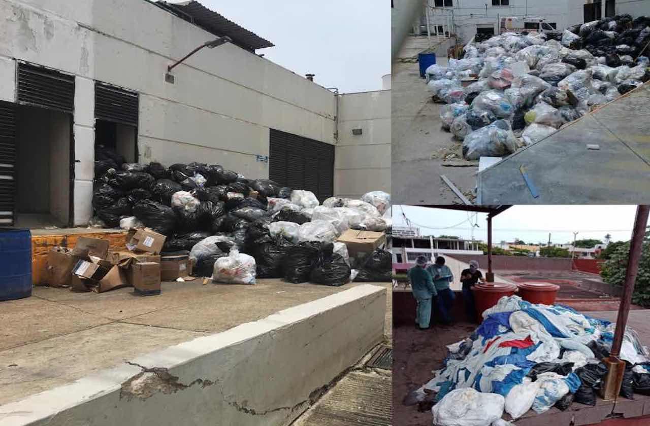 Acumulan desechos en el Hospital Regional de Coatzacoalcos