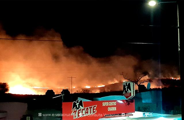 Se incendian pastizales en Río Medio 4, en Veracruz