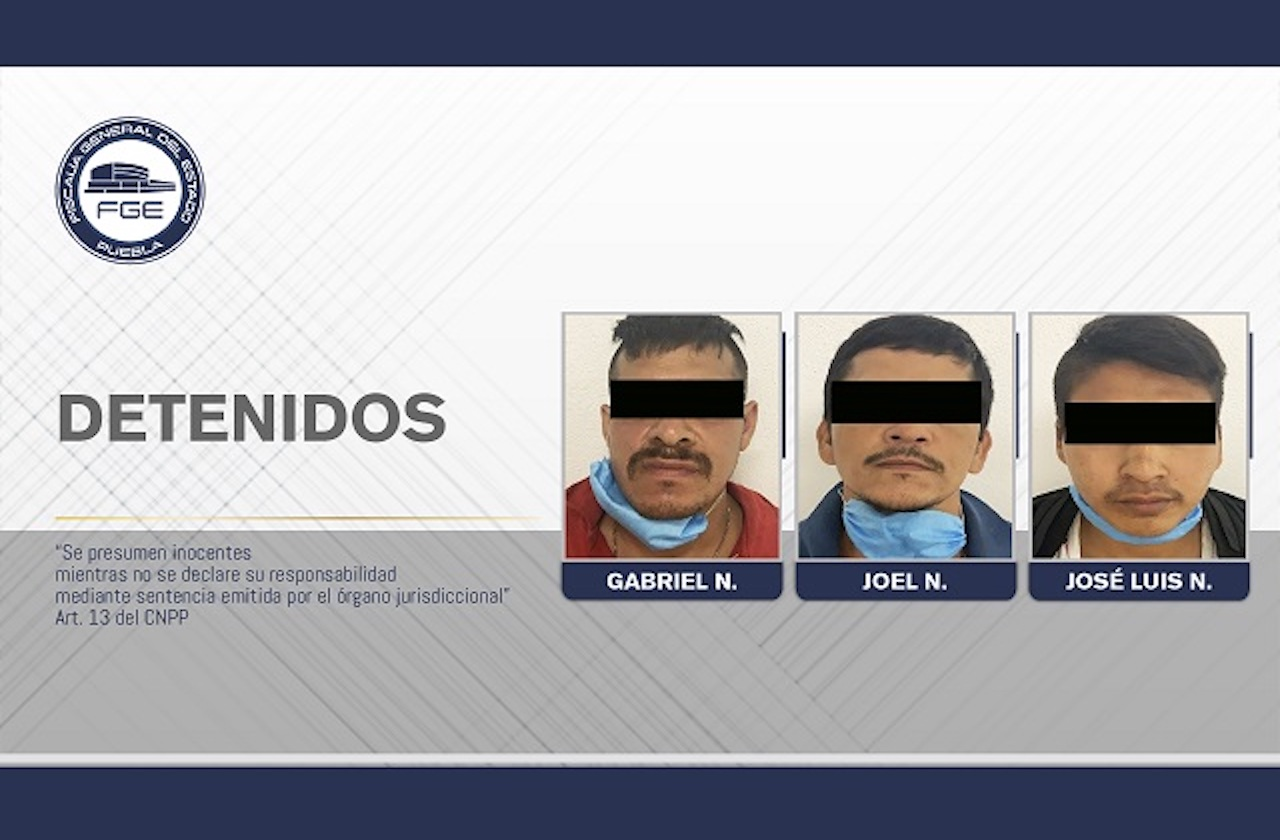 Secuestradores de Veracruz son aprehendidos en Puebla