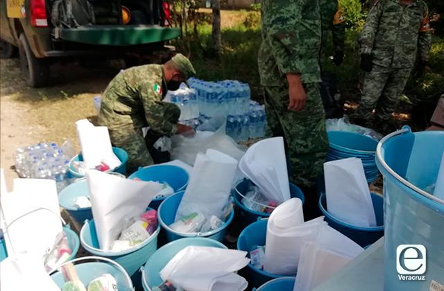 Sedena lleva apoyo a damnificados en Las Choapas