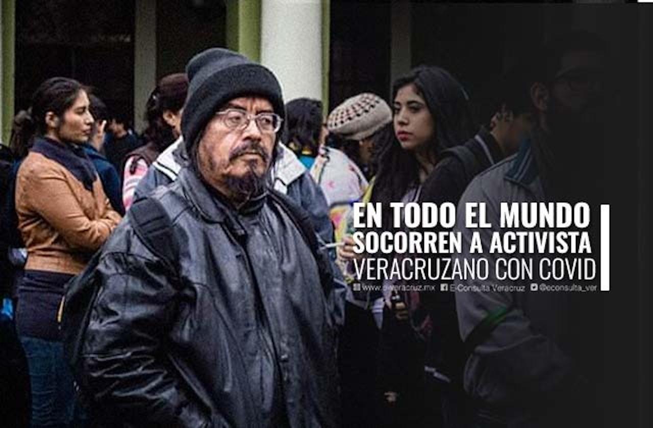 """Silverio, cronista """"a ras de calle"""" en Xalapa lucha contra el covid"""