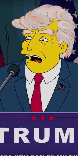 Los Simpson' se burlan de Donald Trump