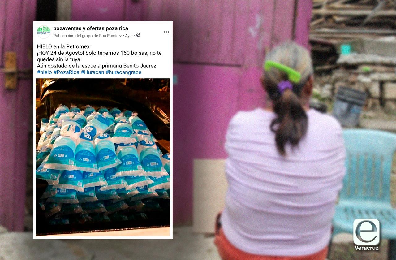 Sin luz, en Poza Rica enfermos buscan hielo para preservar medicina
