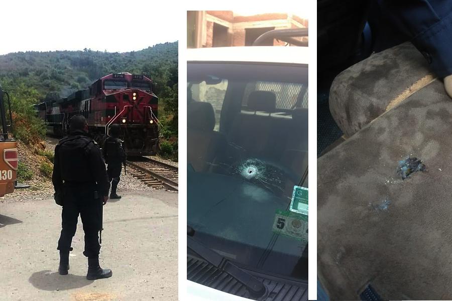 Enfrentamiento entre policías y robatrenes en Acultzingo