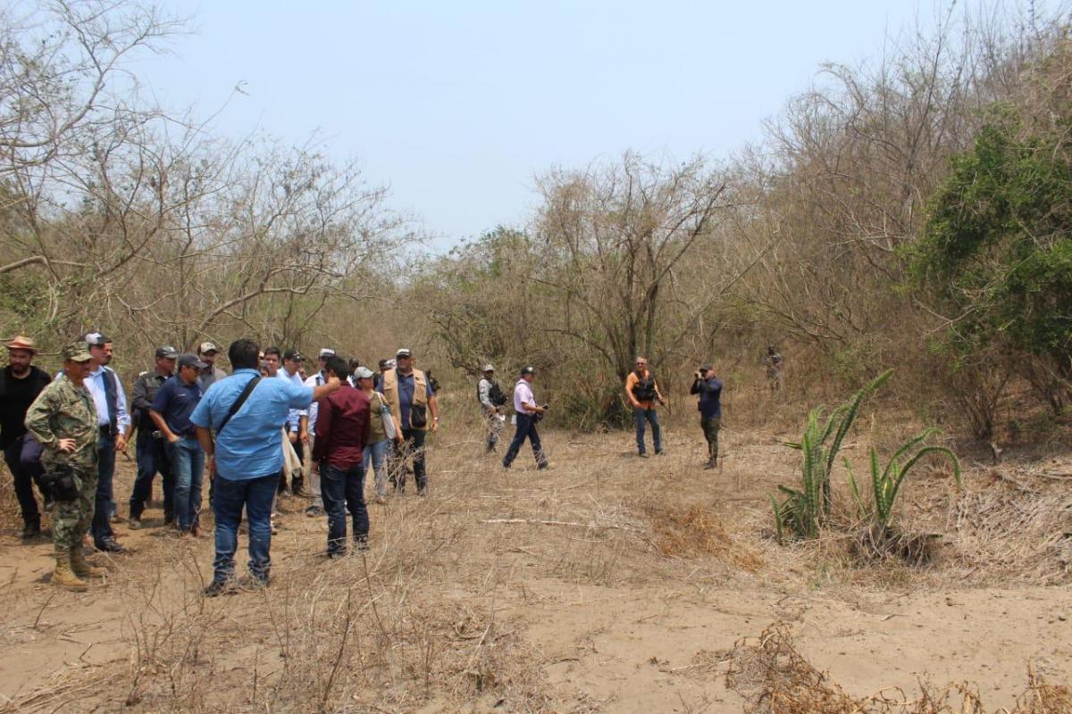 Hallan predio con 36 puntos de fosas clandestinas en Veracruz
