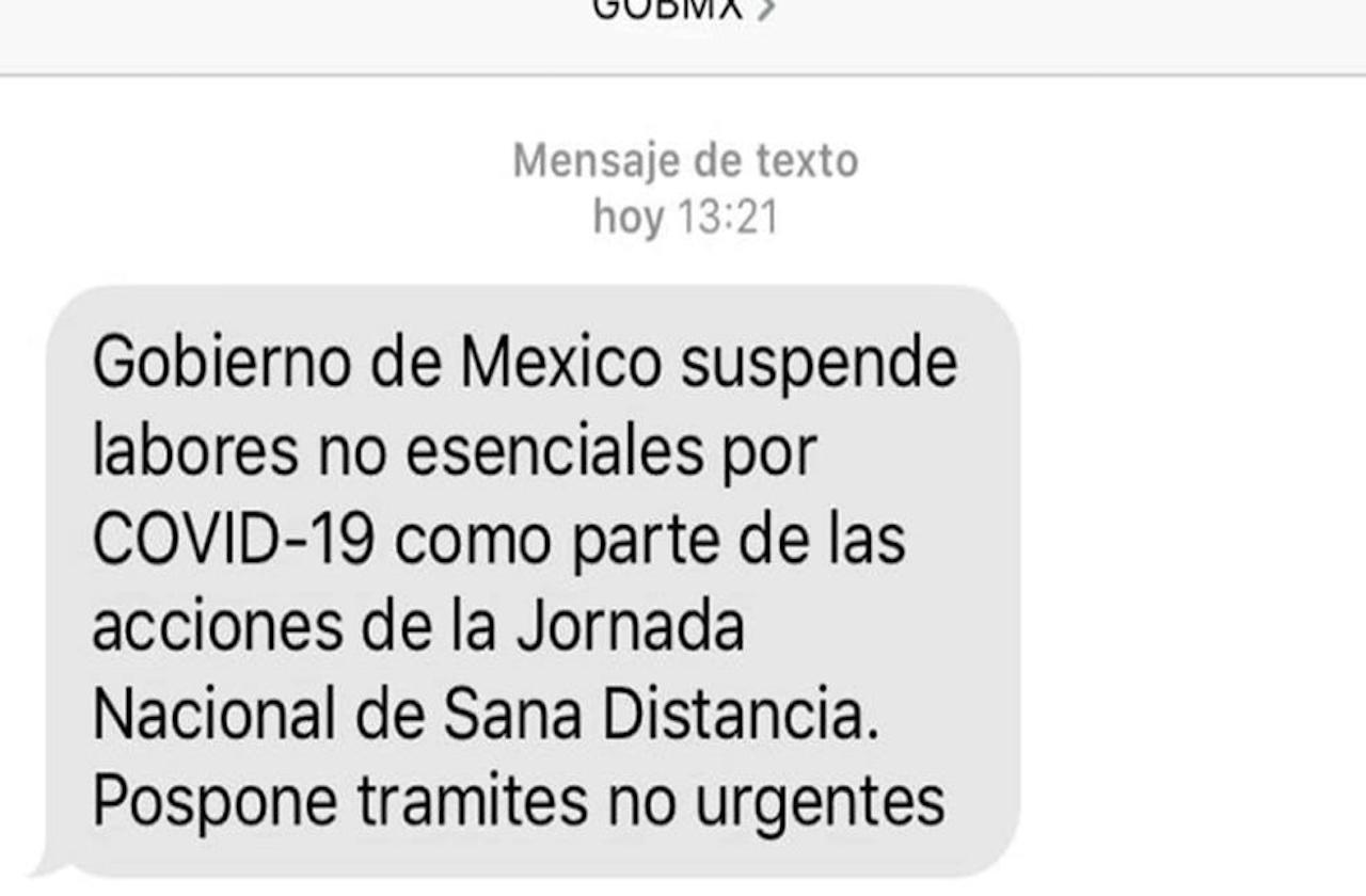 México promueve jornada de sana distancia mediante SMS