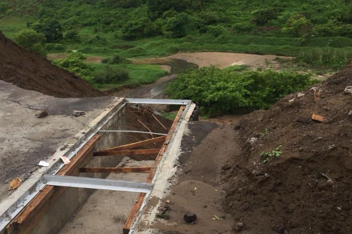 Lluvia deja hundimientos y socavón en Río Medio, Veracruz