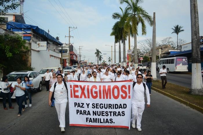 Médicos y enfermeras exigen alto al secuestro en zona sur