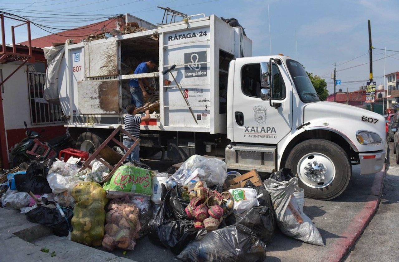 Suspenden recolección de basura en Xalapa por navidad