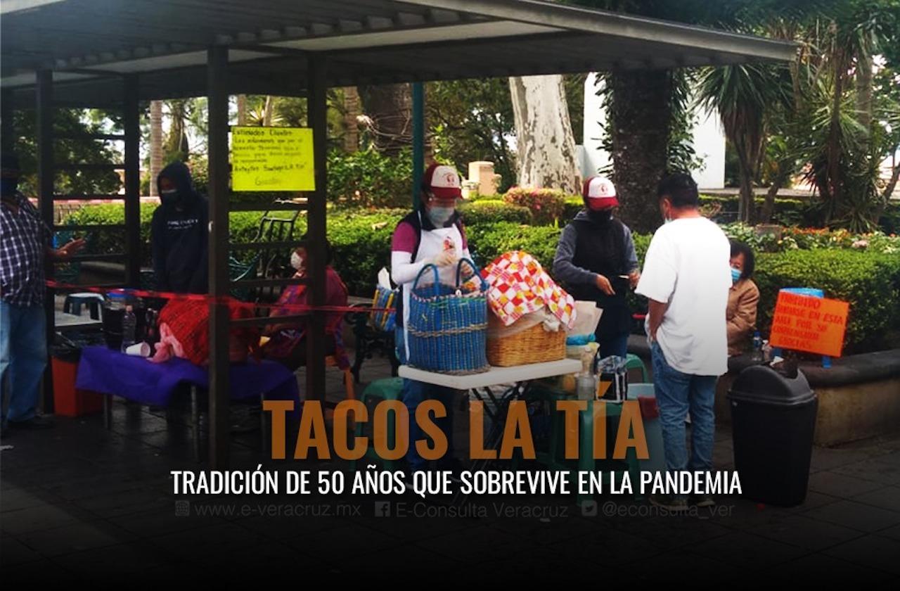 Tacos La Tía, tradición de 50 años que sobrevive en la pandemia