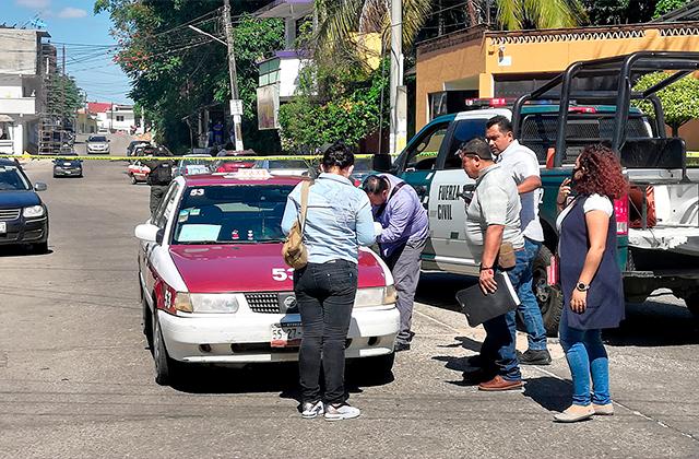 Taxista es asesinado en Villa Juanita, Acayucan