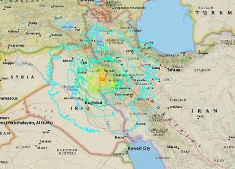 Terremoto histórico sacude a Irak e Irán