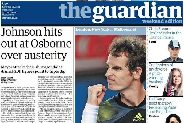 The Guardian anuncia recorte de 250 trabajadores, el 18% del total