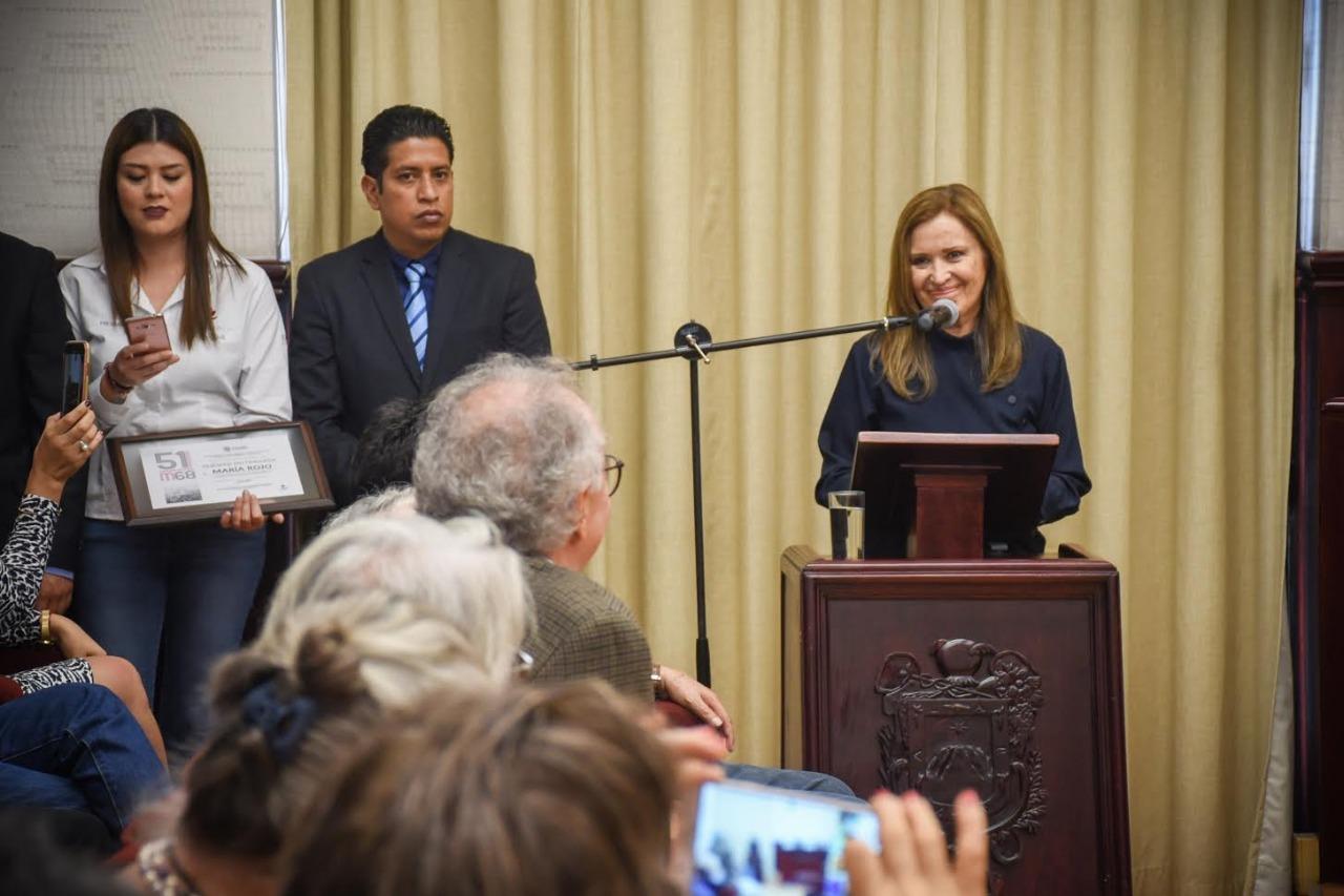 María Rojo resaltó grandeza de Xalapa y su aportación cultural a México