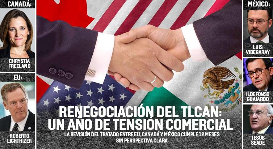 Se cumple un año de la negociación del TLCAN, deja tensión comercial